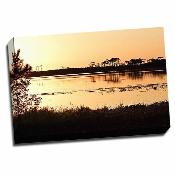 Snow Goose Pool 2 24x16 Wrapped Canvas Wall Art