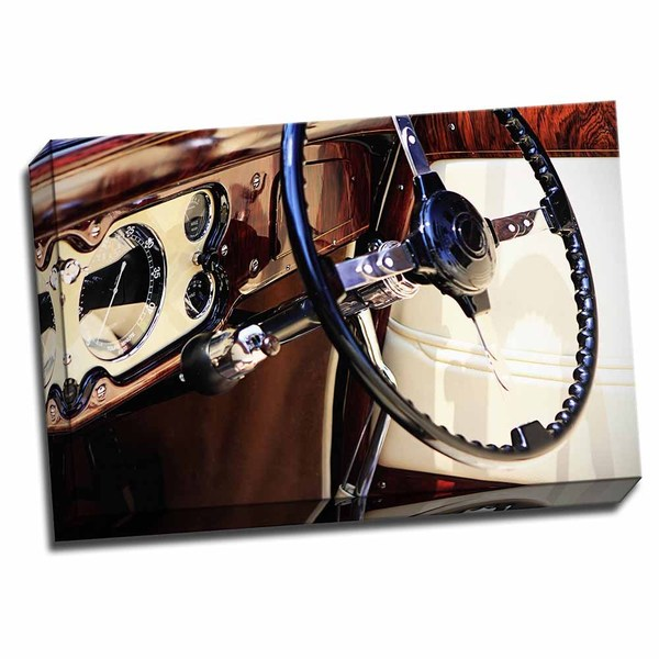 Picture It on Canvas 'Classic Dash II' Wrapped Canvas Wall Art (24 x 16)