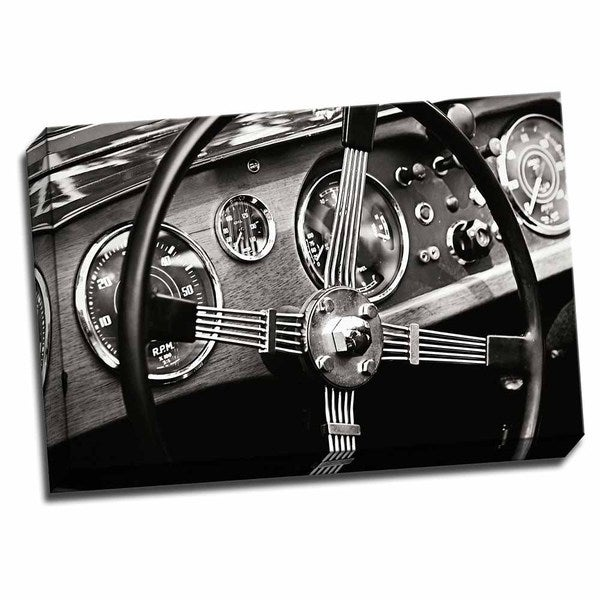 Picture It on Canvas 'Classic Dash III' Wrapped Canvas Wall Art