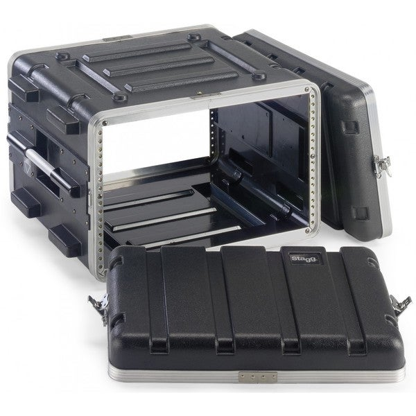Stagg ABS-6U Black Polyethylene Hard Case for 6-unit Rack
