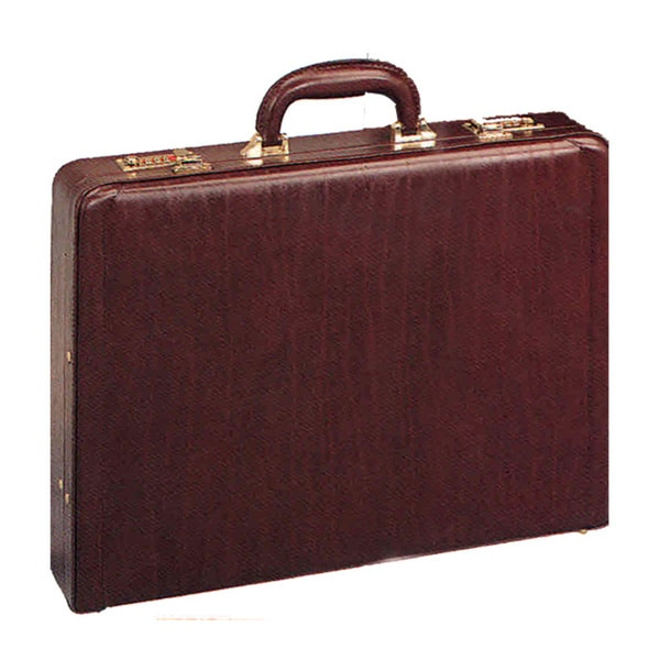 Goodhope Burgundy Leather Attache Briefcase