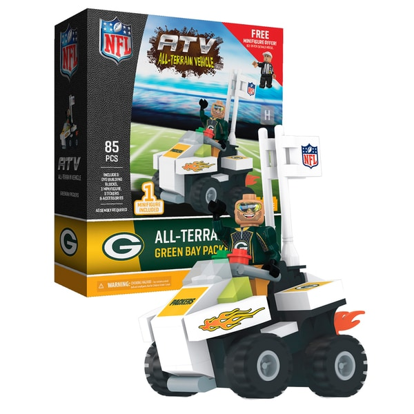 Green Bay Packers NFL 4 wheel ATV with Packers Super Fan