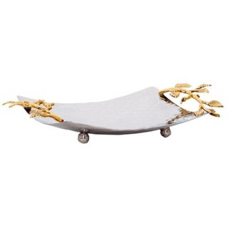 Elegance Gilt Leaf Square Tray