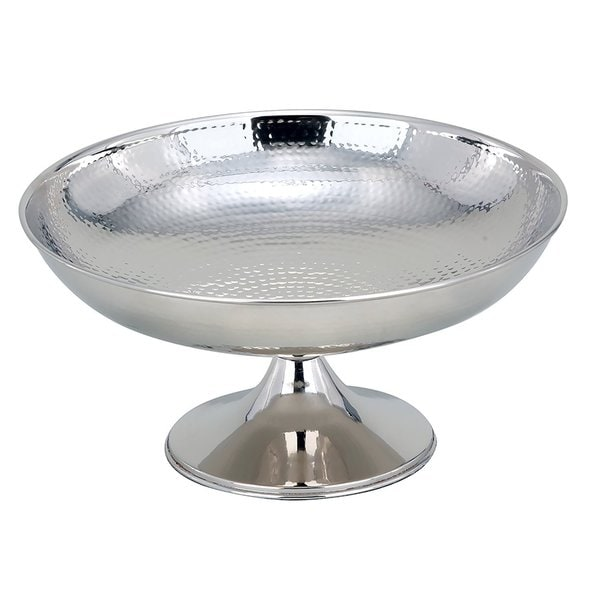 "Elegance Hammered Footed Centerpiece Bowl, 12"" Dia."