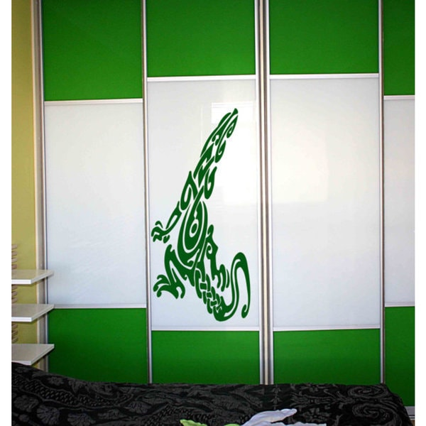 The mystical creature, Lizard, Wall Decal Wall Art Sticker Decal size 22x35 Color Green
