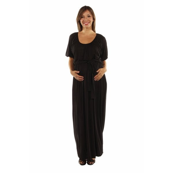 Feminine, Sexy Maternity Maxi Dress for Day and Night