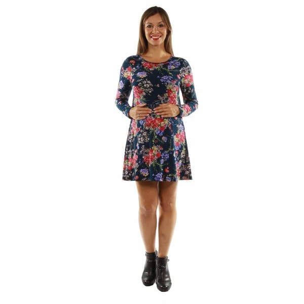 Stunning Floral Midi Maternity Dress