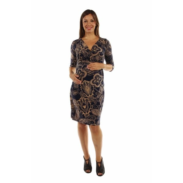 Dreamy Print Midi Maternity Dress