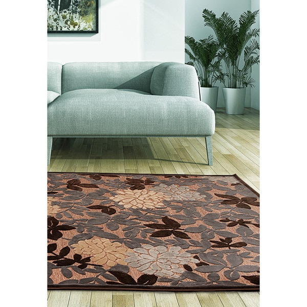 eCarpetGallery Dartmouth Brown/Grey Viscose Rug (7'6 x 10'6)