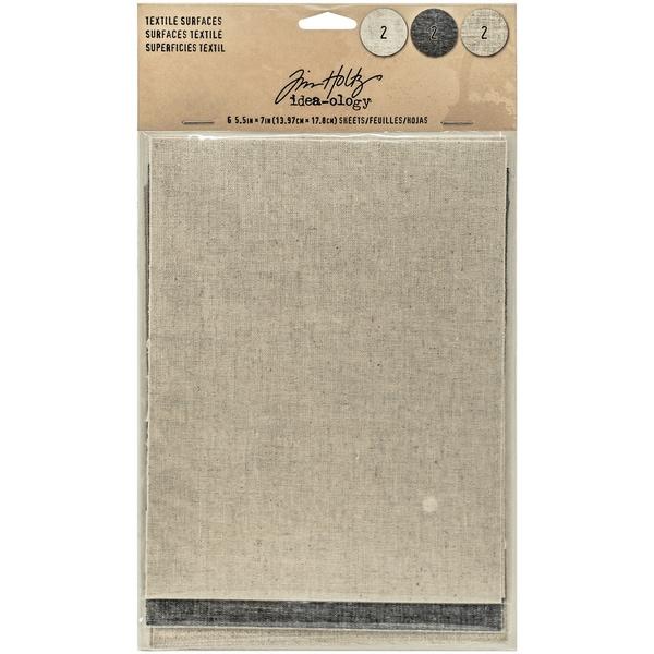 "Idea-Ology Adhesive Backed Textile Surfaces 5.5""X7"" 6/Pkg"