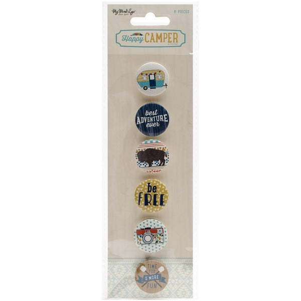 Happy Camper Flair Buttons 6/Pkg 21929838