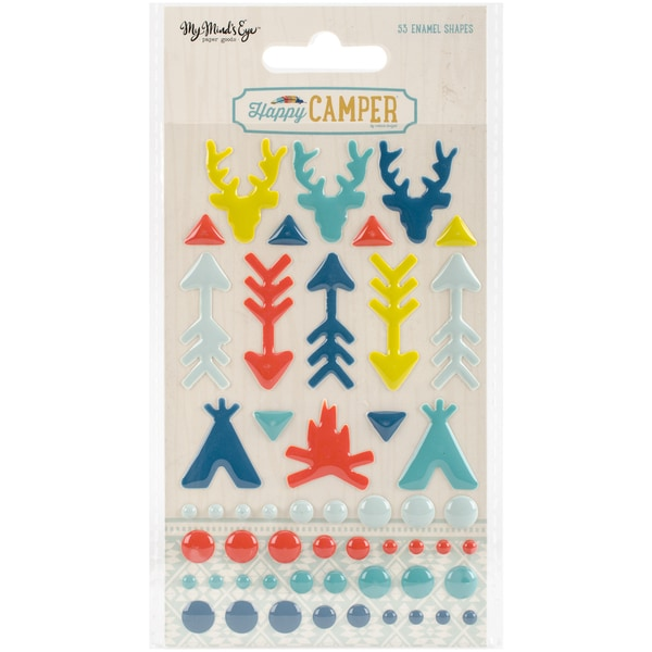 Happy Camper Adhesive Enalem Shapes 53/Pkg 21929839