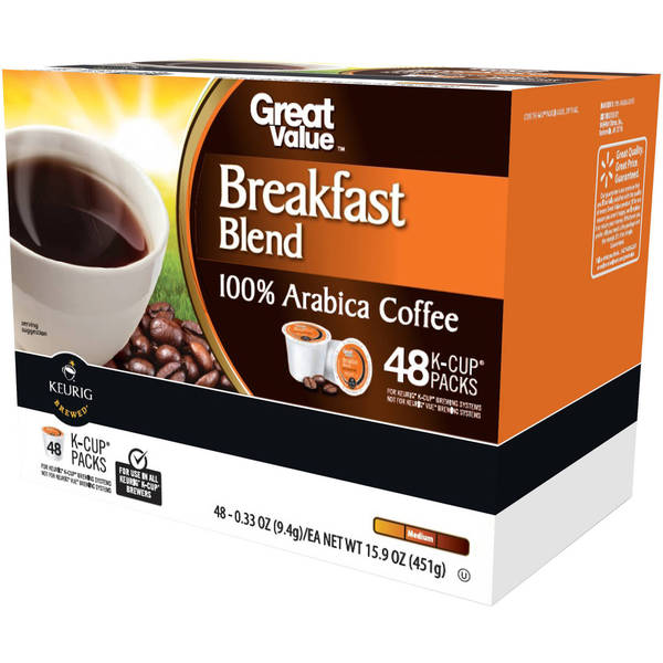 Great Value Breakfast Blend Medium Roast Coffee K-Cups