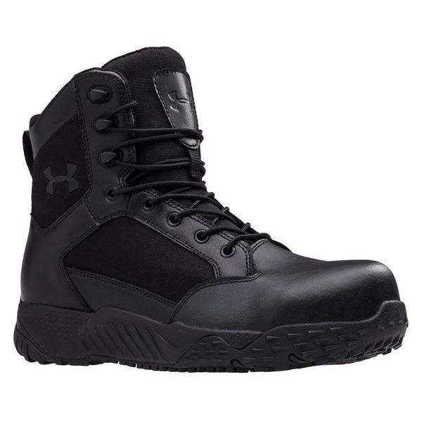 Men's Under Armour Stellar Protect Black Rubber Tactical Boots 21933447