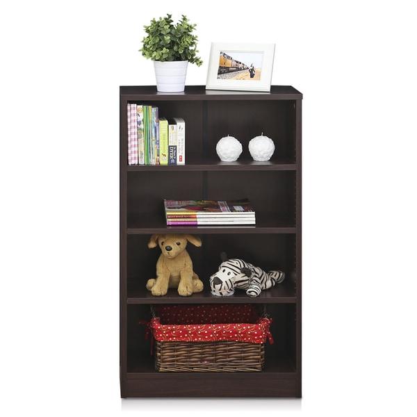 Furinno Indo Espresso MDF 4-tier Accessories Storage Shelf