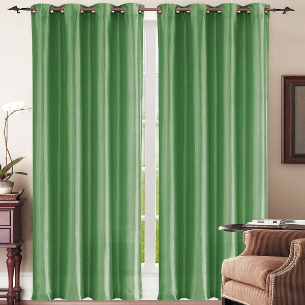 Simple Elegance New York Faux Silk Window Curtain Panel