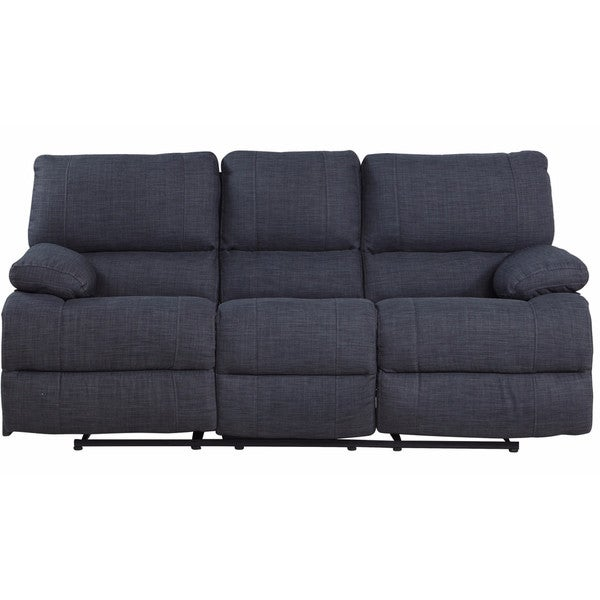Traditional Dark Grey Fabric Oversize Recliner Sofa