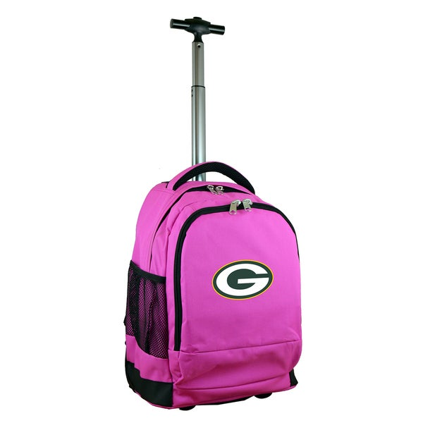 Denco Sports Mojo Green Bay Packers Premium Pink Wheeled Backpack