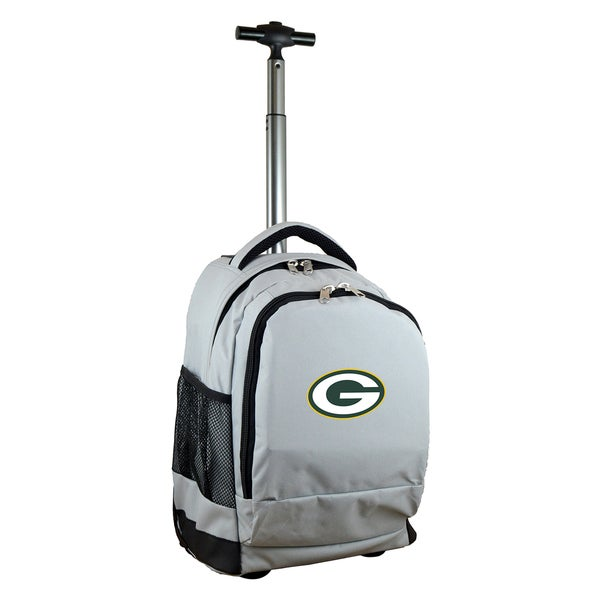 Denco Sports Mojo Green Bay Packers Grey Premium Wheeled Backpack