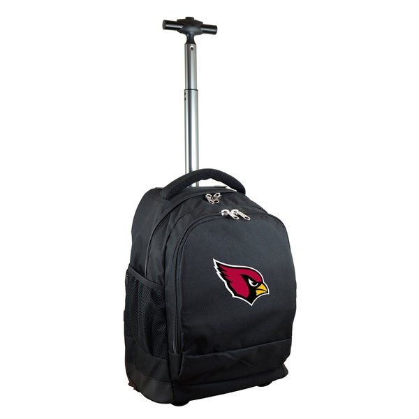 Denco Sports Mojo Arizona Cardinals Black Nylon/Denim Wheeled Backpack