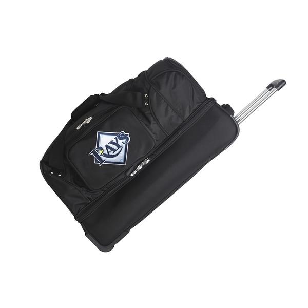 Denco Sports Mojo Tampa Bay Rays Black Nylon and Polyester 27-inch Rolling Drop-bottom Duffel Bag 21945383