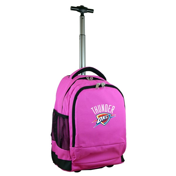 Denco Sports Mojo Oklahoma City Thunder Premium Pink Wheeled Backpack