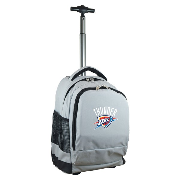 Denco Sports Mojo Oklahoma City Thunder Premium Grey Wheeled Backpack