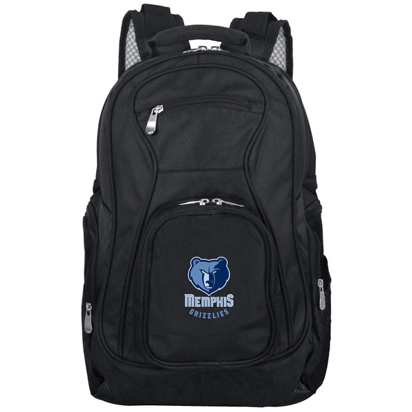 Denco Sports Mojo Memphis Grizzlies Black/Blue Nylon/Denim 19-inch Laptop Backpack