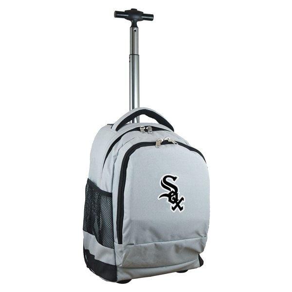 Denco Sports Mojo Chicago White Sox Premium Grey Wheeled Backpack