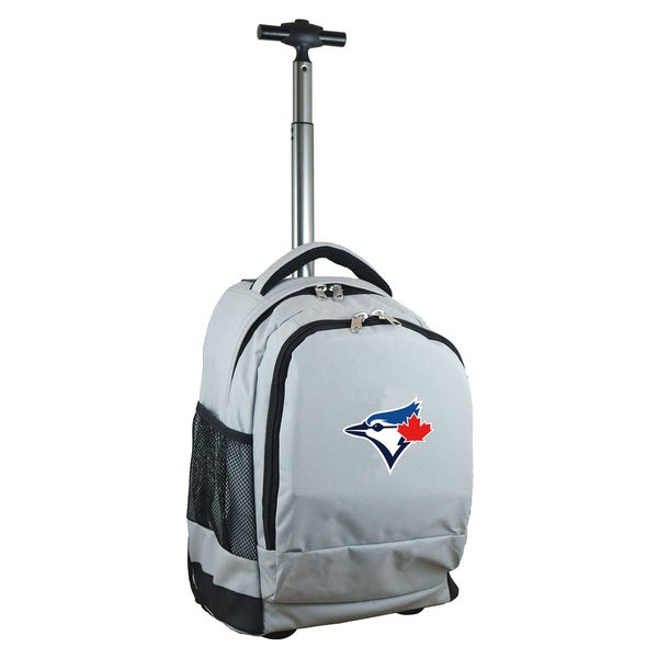 Denco Sports Mojo Toronto Blue Jays Grey Premium Wheeled Backpack