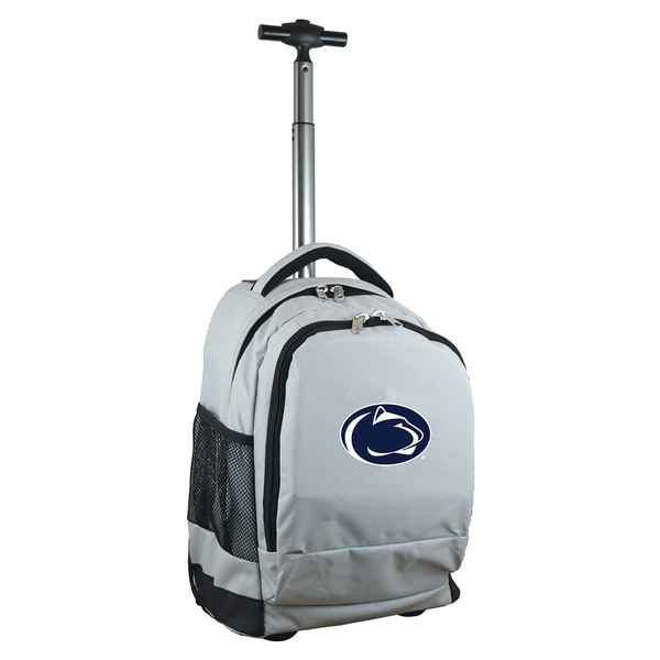 Denco Sports Mojo Penn State Premium Grey Nylon Wheeled Backpack