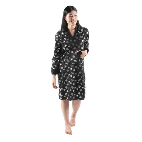 Hadari Womens Soft Lovely DreamerStar Print Pajama Sleepwear