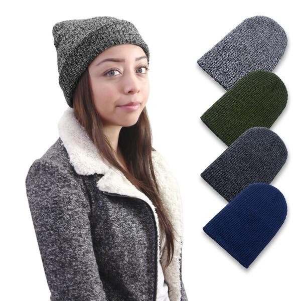 Zodaca Unisex Men/ Women Broken Rib Stitch Warm Knit Beanie 21954518