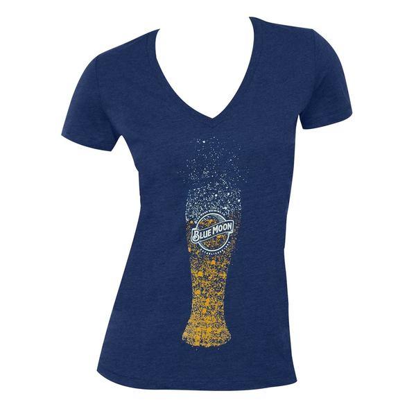 Blue Moon Bubble Glass Blue Cotton T-shirt