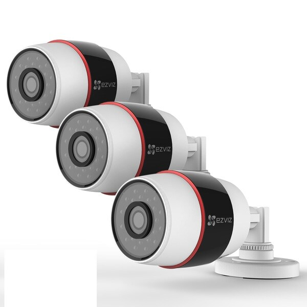 EZVIZ Husky 1080p Wi-Fi + PoE Outdoor Bullet Cloud Camera - 3 Pack