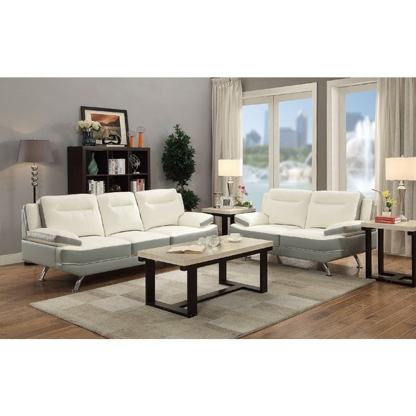 Linz Bonded Leather Loveseat and Sofa