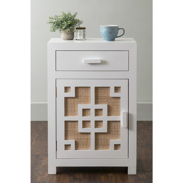 East At Main's Gentry White Wooden Square Nightstand