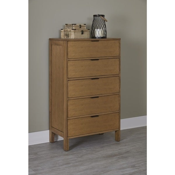 Progressive Brown Finish Rubberwood Strategy Chest