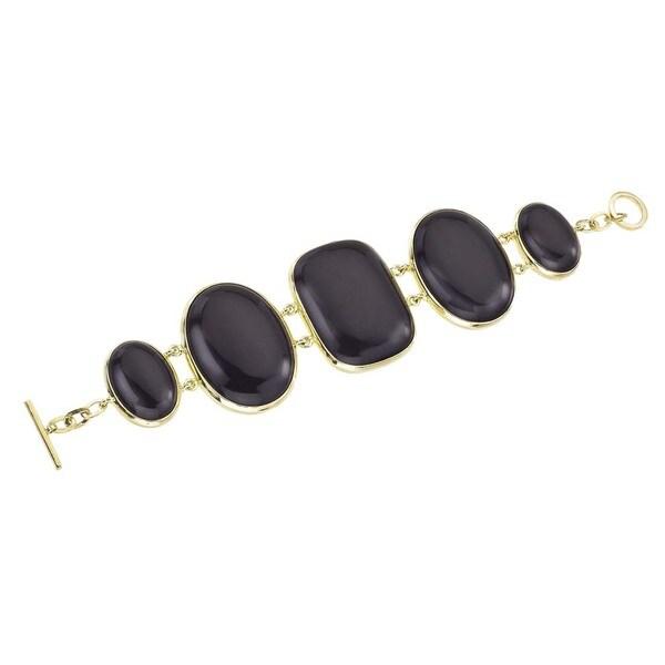 18k Vermeil Gold Onyx Bracelet