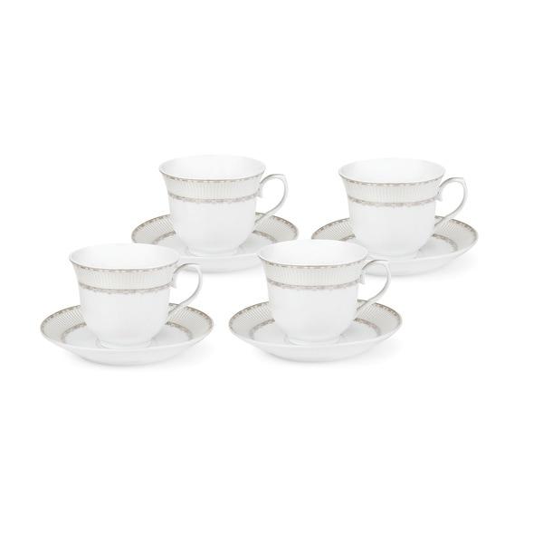 Lorren Home Trends Silver-design Service for 4 Tea/Coffee Set 21962726