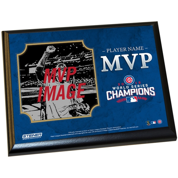 Chicago Cubs 2016 World Series Championship Series MVP 8x10 Plaque