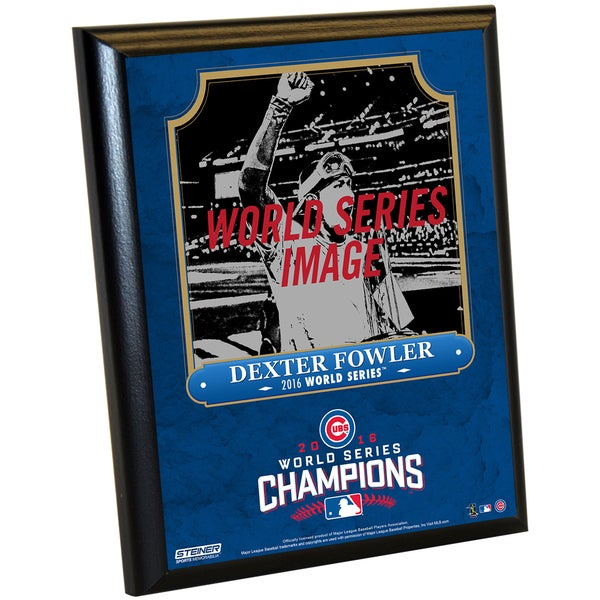 Chicago Cubs 2016 World Series Champions Dexter Fowler 8x10 Plaque