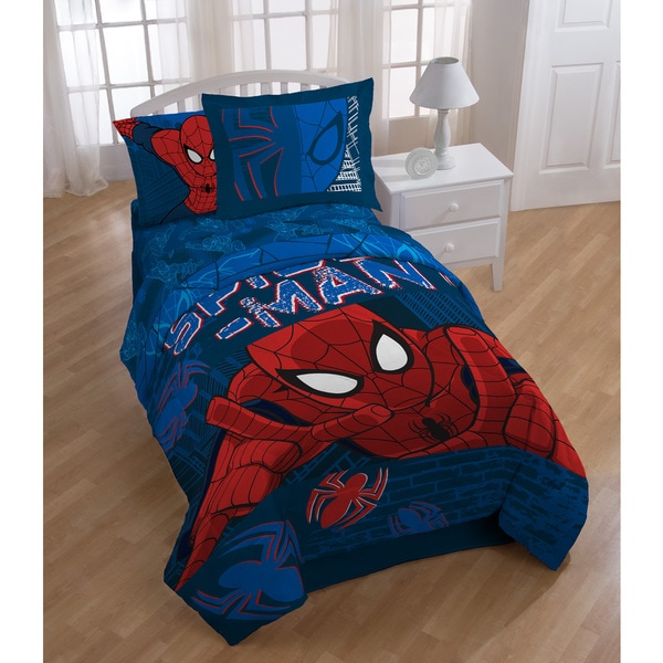 Marvel Spiderman 'Graphic' 6-piece Bed in a Bag Set 21966509