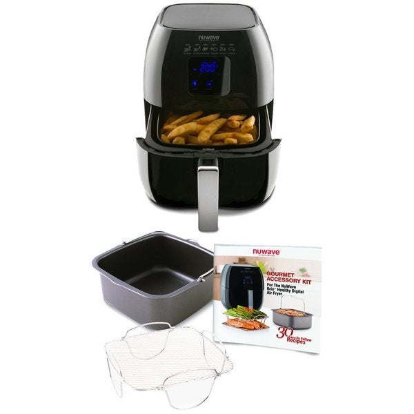 Nuwave Brio Healthy Digital Air Fryer and Brio Air Fryer Accessory Pack 21969418