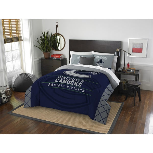NHL 849 Canucks Draft Full/Queen 3-piece Comforter Set