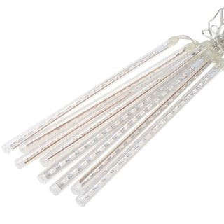 Perfect Holiday Multicolored LED Snowfall Meteor Rain Light Tube with US Plug (Pack of 8 Tubes)