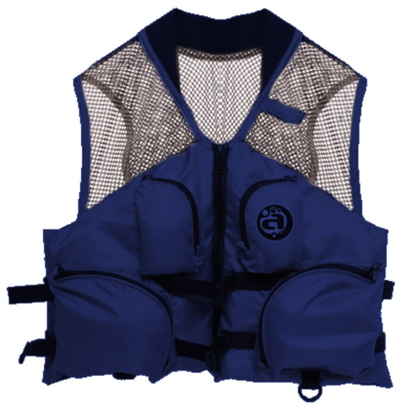 Airhead Blue Nylon Small/Medium Deluxe Mesh Top Fishing Vest