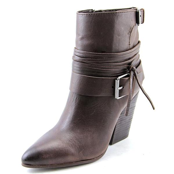 Vince Camuto Women's Rhiannon Brown Leather Heeled Boots