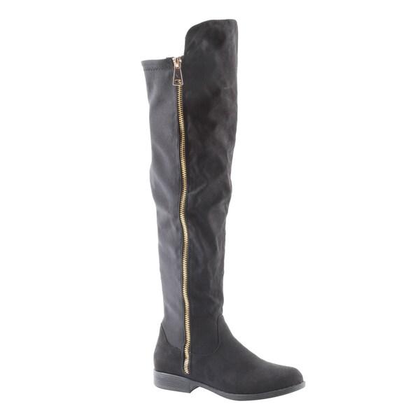Hadari Womens Fashion Thigh High Over The Knee Zipper Boots 21974051