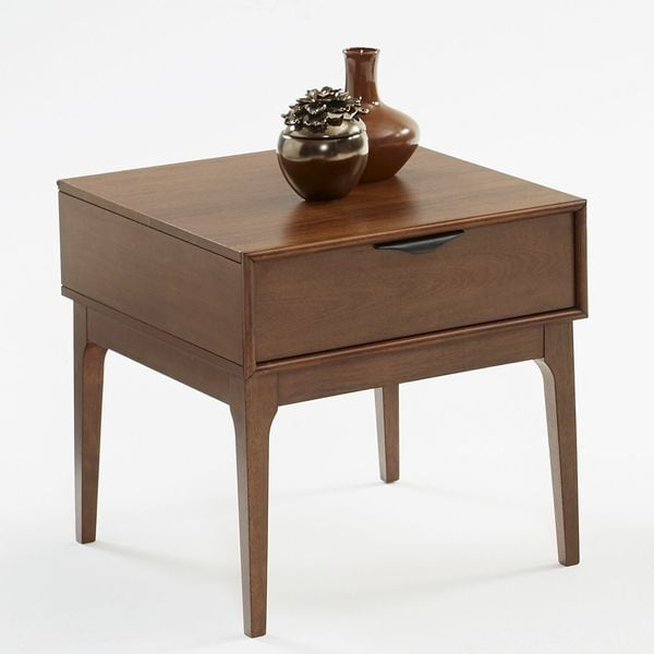 Progressive Distressed Brown Square End Table